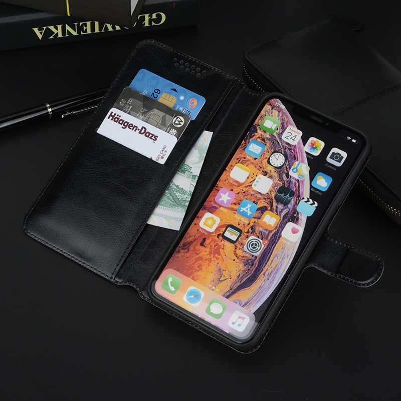 عالية الجودة ستاندر حافظة جلدية ل LG K8 K11 K10 K9 LTE 2017 2018 محفظة قلابة حالات الأسود لينة
