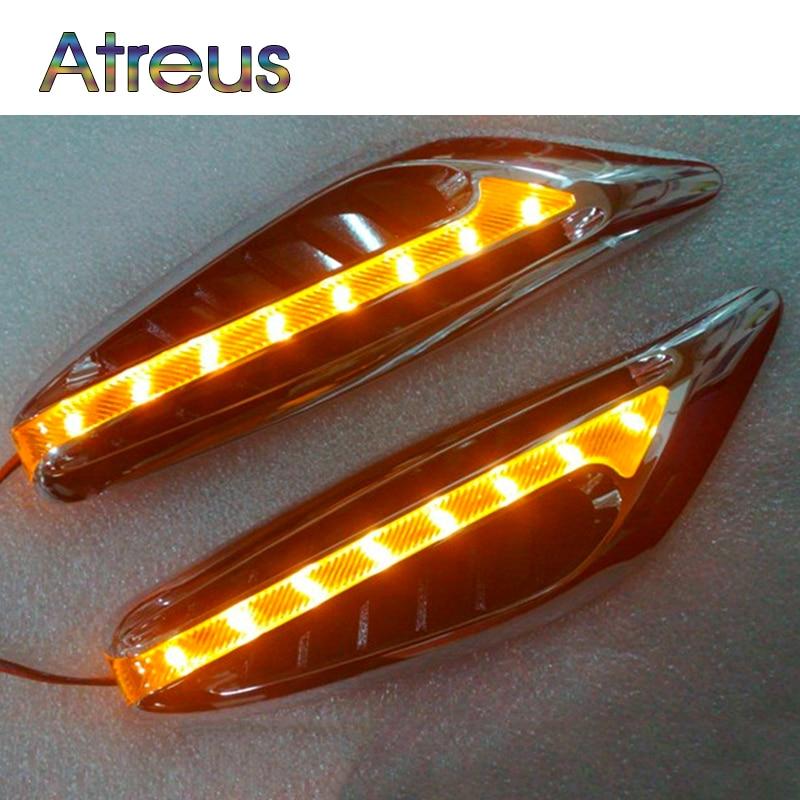 Atreus Car LED Steering lights Side turn signals Lamp For Hyundai ix35 accent Volkswagen VW golf 4 Toyota corolla yaris Jaguar