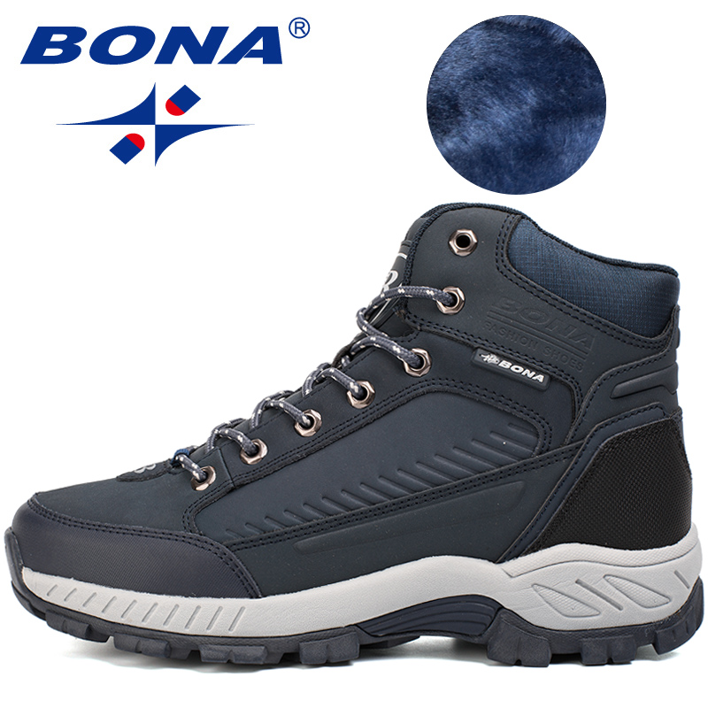 Image 2 - BONA New Popular Style Men Hiking Shoes Outdoor Walkng Jogging Trekking Sneakers Lace Up Climbing Boots For Men Free Shipping-in Hiking Shoes from Sports & Entertainment
