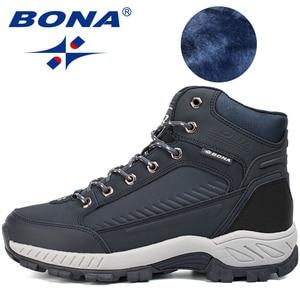 Image 2 - BONA bottes de randonnée pour homme, baskets de Jogging, de marche en extérieur, Style populaire, nouvelle collection à lacets, livraison gratuite