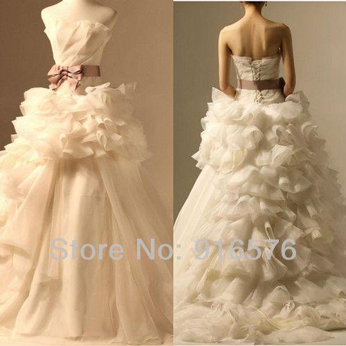 Ruffled Ball Gown Wedding Dress: 2013 Gowns Ruffled Wedding Dress Conture Bridal Dresses