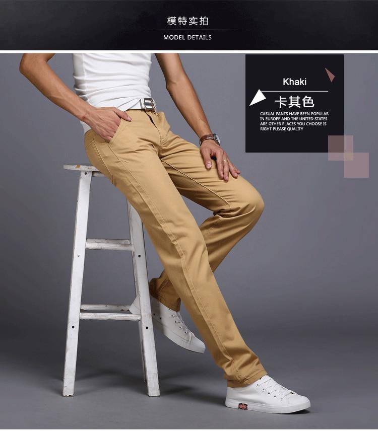 HTB17b62avjsK1Rjy1Xaq6zispXag TANGYAXUAN New Design Casual Men pants Cotton Slim Pant Straight Trousers Fashion Business Solid Khaki Black Pants Men 28-38