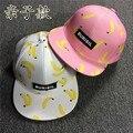 Crianças boné de beisebol snapback chapéu casquette gorras série de frutas abacaxi impresso banana crianças hip hop do boné de beisebol da menina do menino