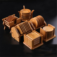 XMT HOME bamboo wooden mat for green oolong tea puer tea cups serving trays insulation heat kungfu tea set accessories