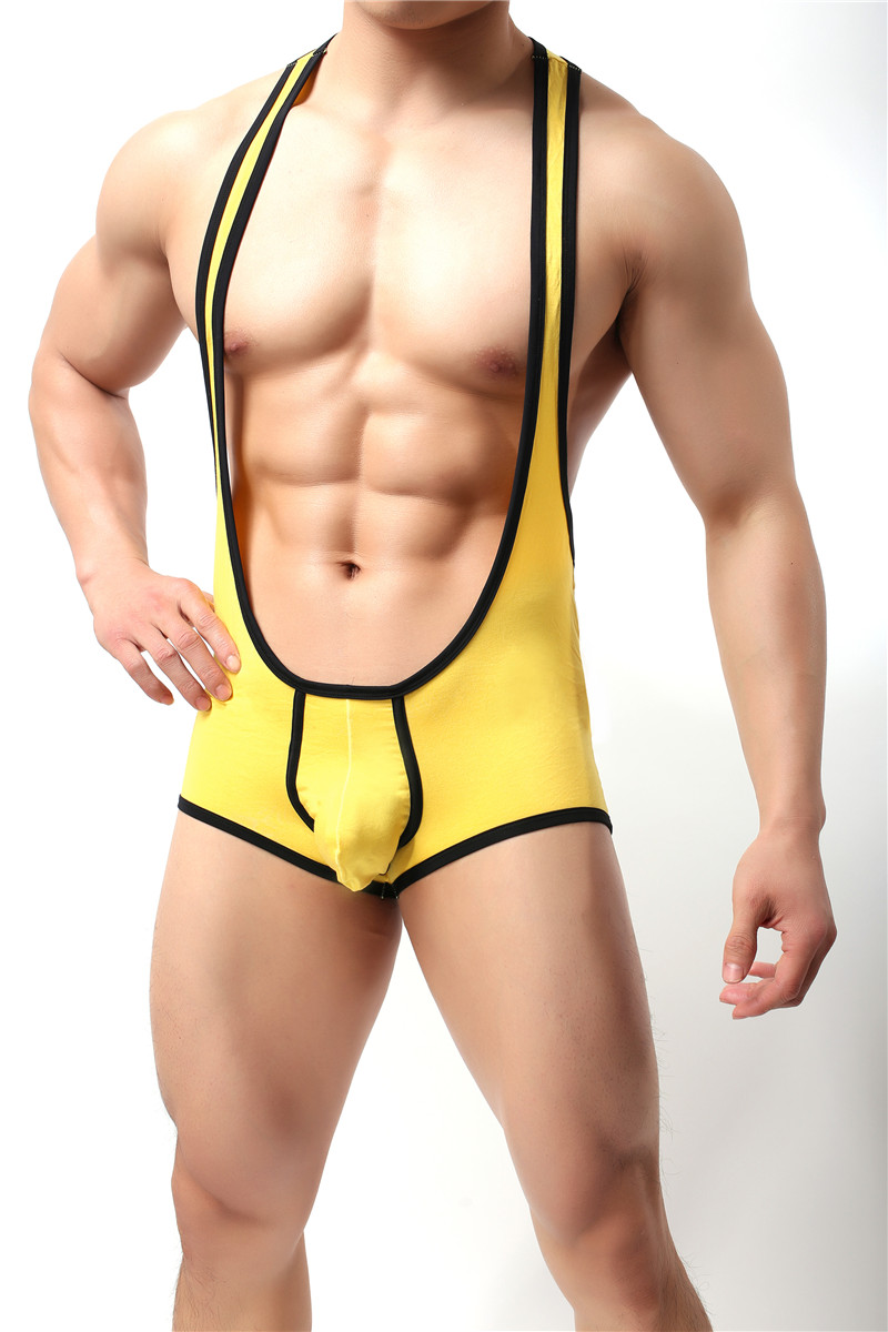Stretch Shaper Tight Unitard Leotard Sexy Men's Underwear Bodysuit Boxers Jumpsuits Wrestling Singlets Gay Jockstrap Shaper