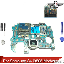 Original Unlocked For Samsung Galaxy S4 i9505 Motherboard Logic Board With Chips+tools
