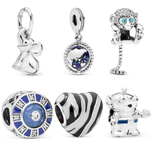 Fresh Style Small European Pendant Original Beads Zebra Mickey House Rabbit Earth Monkey Fit Pandora Charms Bracelets DIY
