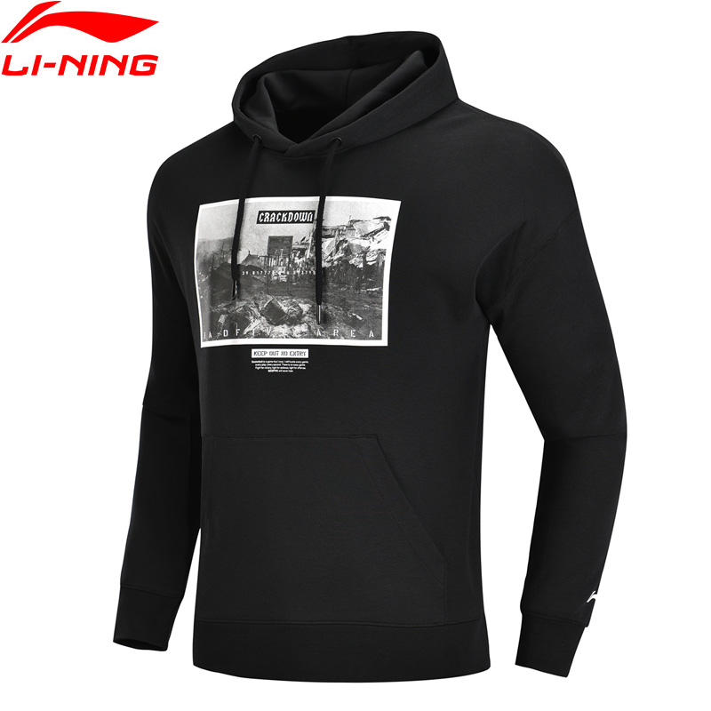 (ausverkauf) Li-ning Männer Schlechte FÜnf Basketball Hoodie 82% Baumwolle 18% Polyester Pullover Mantel Futter Sport Tops Awdn335 Mww1427