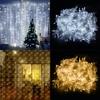 220V 110V LED Curtain String 3x3m 6x3m LED Icicle String Light Holiday Wedding Party Christmas Decoration