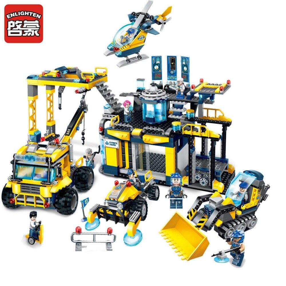 Oświecenie budowa Building Block Kyanite Squad Ploration bazy 9 rysunek 986 pcs cegieł bez pudełka w Klocki do układania od Zabawki i hobby na  Grupa 1