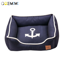 Sofa Houses Kitty Mats Kennel Puppy-Bed Cat-Beds Cozy Small-Pet Dogs Warm Soft for Navy-Design