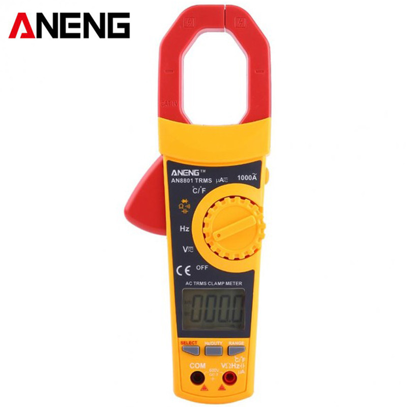 ANENG AN8801 LCD Digital Clamp Meter Multimeter With Temperature Measurement AC/DC Voltage Tester Current Resistance Multi Test цена 2017