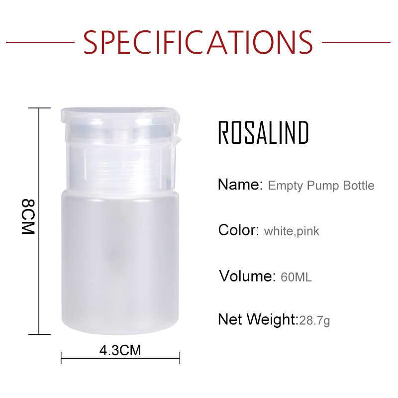 ROSALIND 1PCS Lege Pomp Fles Nail Art Lege Plastic Nagellak Pomp Clear Fles UV Gel cleaner Remover Lege fles