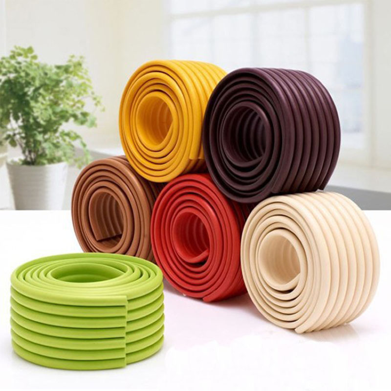 Multifunctional 2M Broaden Bumper Strips Table Desk Edge Furniture Corner Cushion Protector Bumper Strip Baby Safety Products