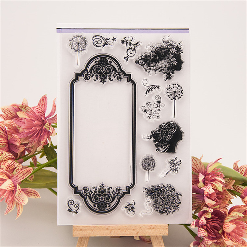 The Flower Child Lunlun design diy scrapbooking clear stamp for wedding gift paper card craft photo album RZ-237 lovely bear and star design clear transparent stamp rubber stamp for diy scrapbooking paper card photo album decor rz 037
