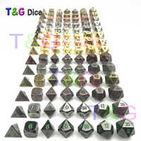 Juego de 7 Dados de Metal de alta calidad d4 d6 d8 d10 d % d12 d20 para juegos de mesa Rpg Dados juegos de mesa dungeons & dragon Dice