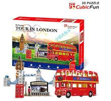 Tour in London CubicFun 3D educational puzzle Paper & EPS Model Papercraft Home Adornment for christmas gift