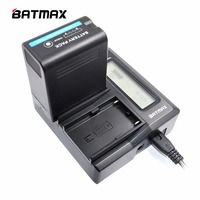 Batmax BPU30 BP U60 BP U65 BP U90 Utra Fast Dual Charger For Sony PMW 100