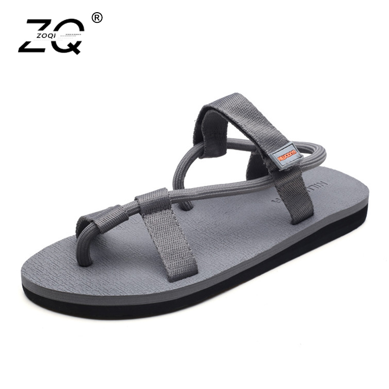 ZOQI New Men Sandals Summer 2018 Roma Style Unisex Shoes Beach Sandals Fashion Outdoor Sandalias For Men Sepatu Pria Size 35-44