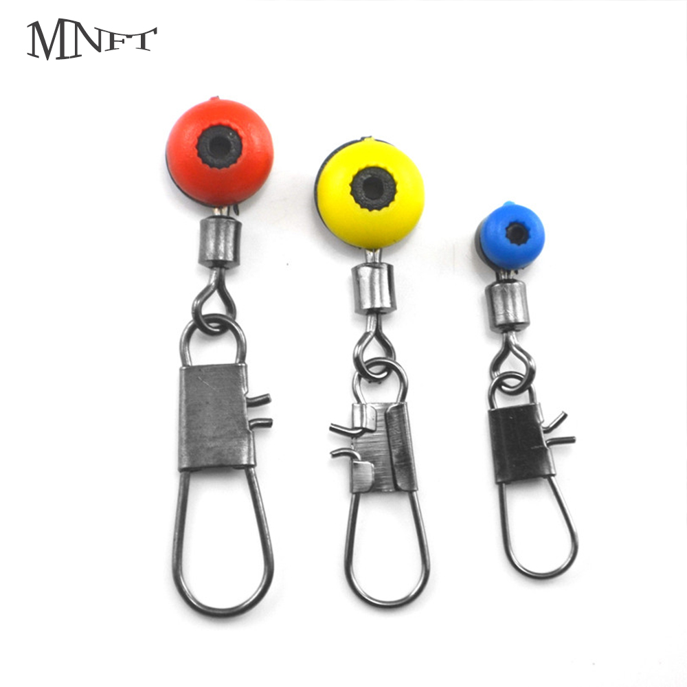 MNFT 25pcs Fishing Lure Rolling Swivel With Nice Snap Stainless Steel Fishing Hook Connector Link For Line Connector Split Rings