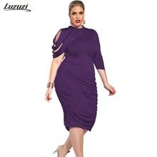 1 ШТ. Плюс размер Dress Женщины Stripes Одно Плечо Sexy Dress Офис Партии Платья Vestidos Mujer 2017 Весна Лето Dress Z520