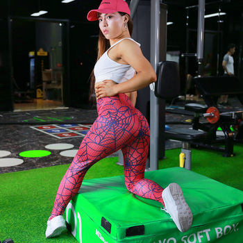 SVOKOR Leggings Women Solid Color New Spider Line Printing Leggings Polyester Hip High Waist Casual Slimming Fitness Legging 1