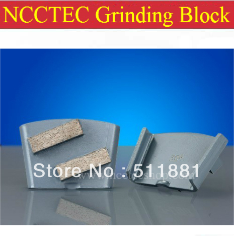 HTC Diamond NCCTEC Concrete Grinding Polishing Block With 2 Segments For HTC Floor Polisher FREE Shipping | 5 Pcs Per Package
