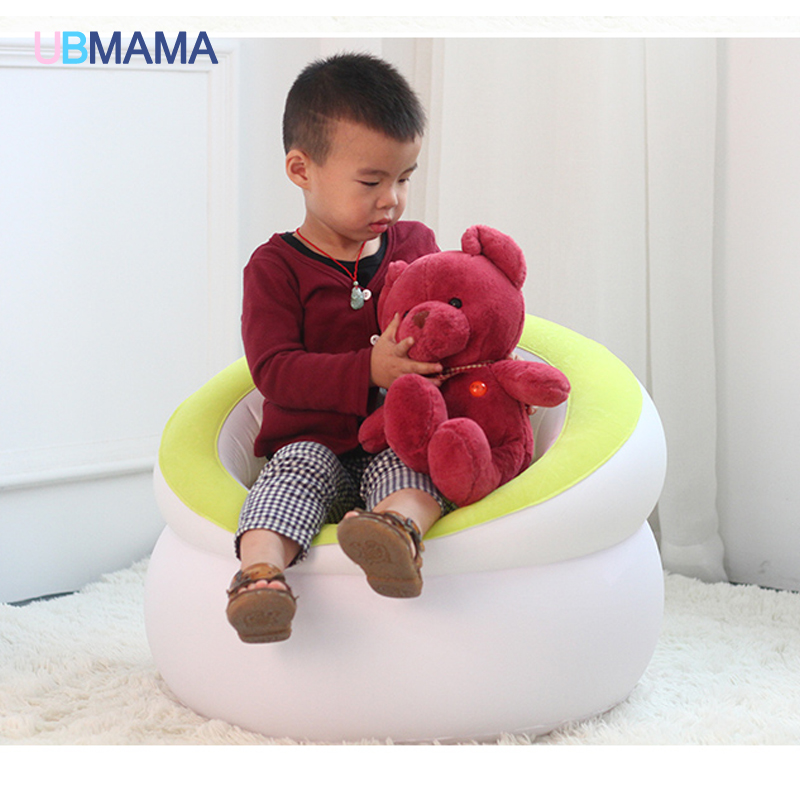 Children's inflatable flocking single thickening sitting room sofa seat cushion portable baby adult lazy sofa chair baby seat inflatable sofa stool stool bb portable small bath bath chair seat chair school