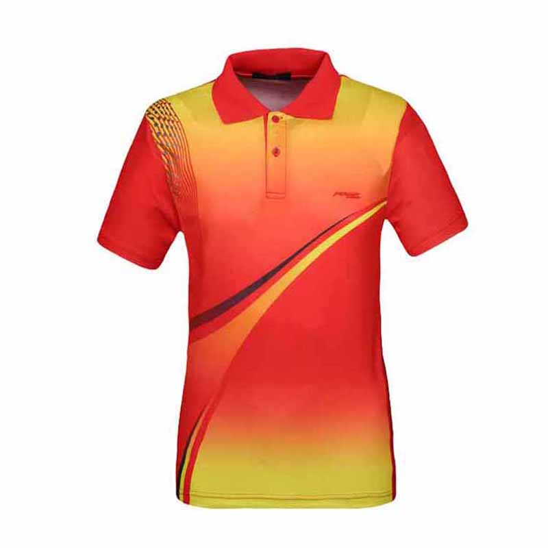 Men Tennis Shirts Polyester Breathable Quick Drying Sports Sweatshirt Heat Transfer Printing Male Table Tennis Badminton Shirt
