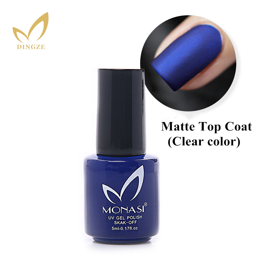 Uv Gel Nail Polish: MONASI 5ml New Nail Art Matte Top Coat Nail UV Gel Polish