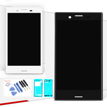 цена на original LCD Display for Sony Xperia X Compact F5321 touch screen 4.6 inch Digitizer Sensor Panel Assembly for SONY X MINI frame