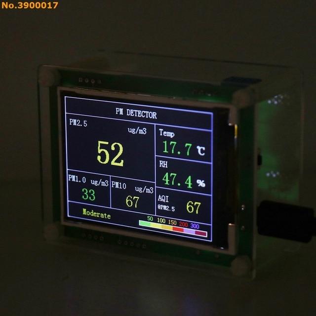 """2,8 """"Автомобильный детектор PM2.5, измеритель качества воздуха, домашний газовый термометр"""