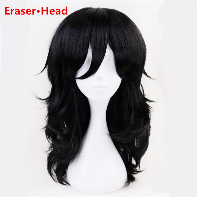 Anime New My Hero Academy Boku no Hiro Akademia Eraser Head Cosplay Costumes Wig Black Hair For Men Cosplay Headwear
