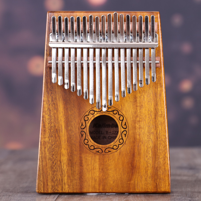 17 Key Finger Kalimba Mbira Sanza Thumb Piano Pocket Size Beginners Supporting Bag Keyboard Marimba Wood Musical Instrument marimba plus