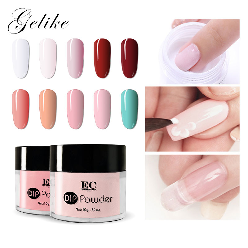 Gelike  Dipping Powder Healthy Formula Professional Set Dip Powder 10g/pcs Powder Nail Gel Gel Nail Polish  For Nail Art