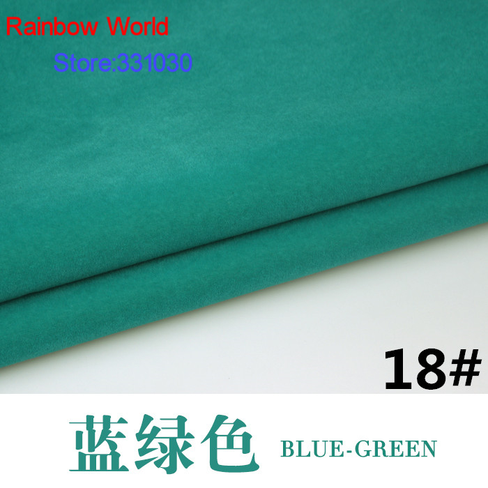 18 # modrá zelená 1 metr Flocked flocking Fabric for DIY Sofa Polštář Matrace Polštář Hračky Tašky materiál
