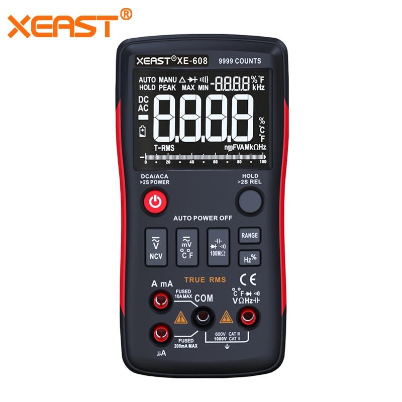 Schnelle Lieferung aus Russland XEAST XE-608 PK RICHMETERS RM409B True-RMS Digital-Multimeter Taste 9999 Zählt Mit Analog Bar
