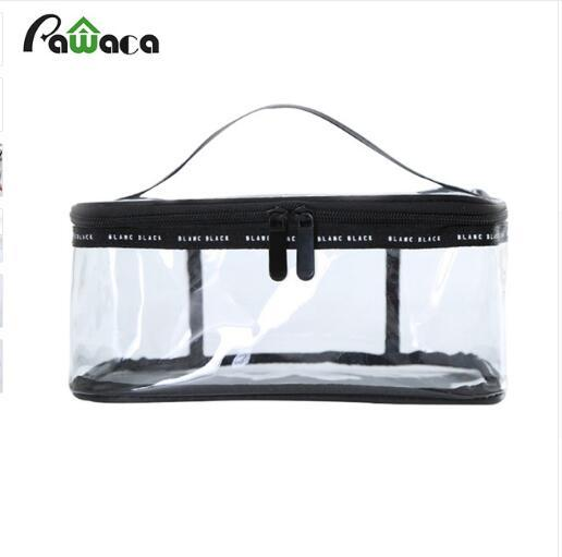 Portable Clear Cosmetic Toiletry Bags Waterproof PVC Makeup Organizer Transparent Storage Bags for Travel Outdoor Bath Wash Bag