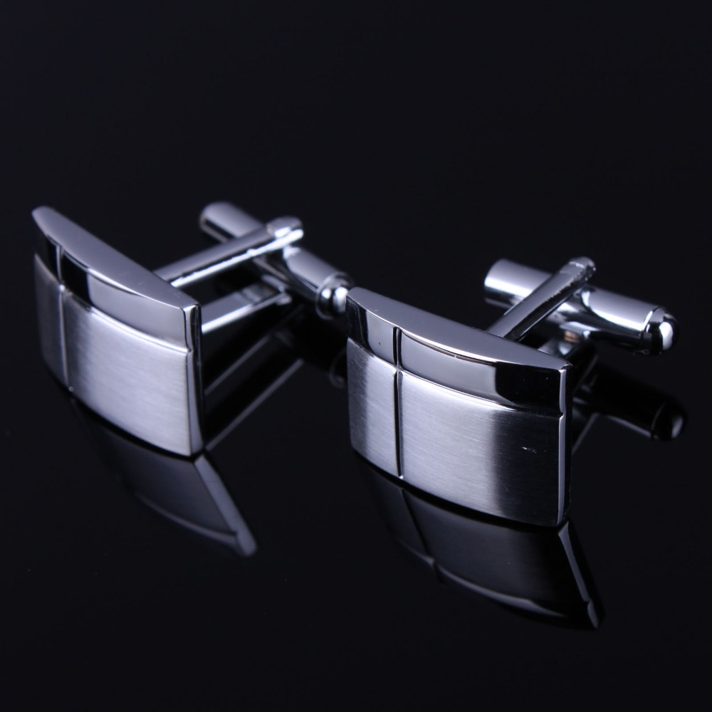 Mens Stainless Steel Gemelos Fashion Cuff Links Wedding Men's Custom Enamel Cufflinks