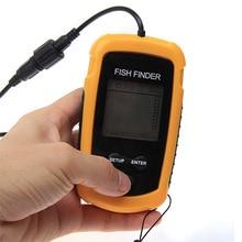 2016Latest waterproof Portable Fish Finder Depth Sonar Sounder Alarm Transducer Fishfinder 100m echo sounder deeper fishfinder