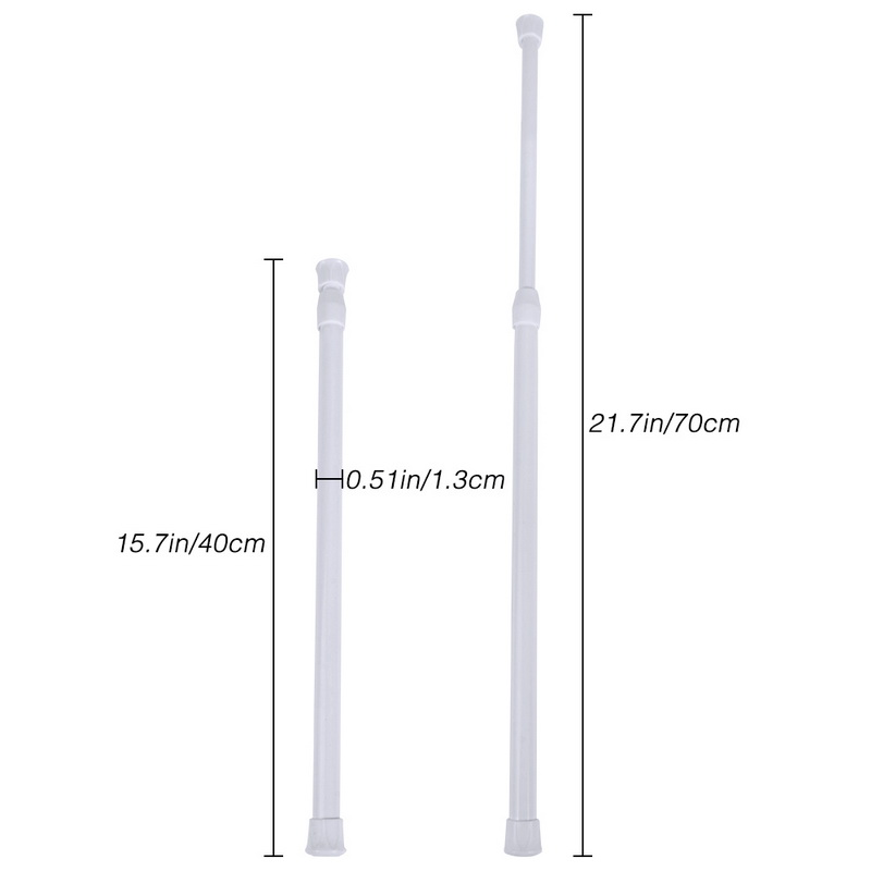 Image 2 - Multifunctional Adjustable Bathroom Shower Curtain Rods metal Voile Extendable Tension Telescopic Pole Rod Bedroom Kitchen-in Shower Curtain Poles from Home & Garden