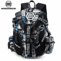 Luxury Designer Famous Brand Women Cool Backpack 2017 Men Camouflage Printing Bagpack Cool School Bag For