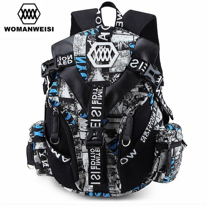 Luxury Designer Famous Brand Women Cool Backpack 2017 Men Camouflage Printing Bagpack Cool School Bag For