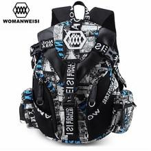 Luxury Designer Famous Brand Women Cool Backpack 2018 Men Camouflage Printing Bagpack Cool School Bag For Teenage Mochila
