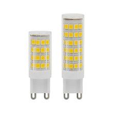 Bombillas LED G9 CA 220V, foco de 360 grados, SMD 2835, reemplazo de luz 30W 40W 50W, lámpara halógena para candelabro