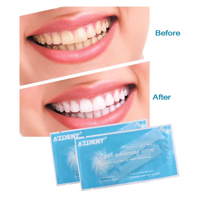 AZDENT Teeth Whitening Strips 14 Pouches/28 Strips Dental Tooth Whitening Strip Tooth Bleaching Gel White Advanced Strips Set