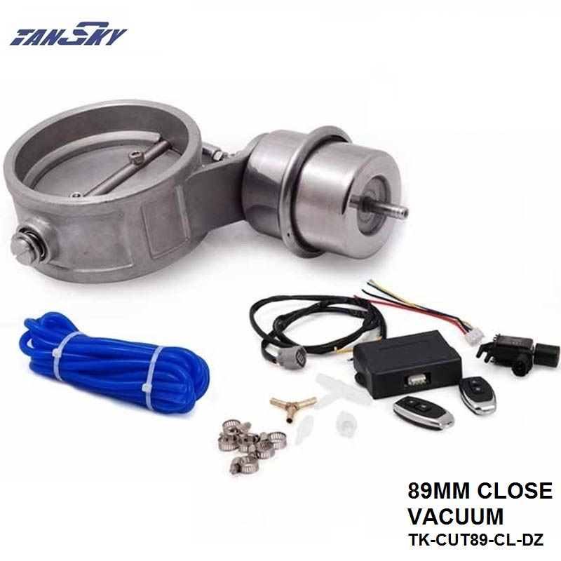TANSKY -Exhaust Control Valve Set With Vacuum Actuator CUTOUT 89mm Pipe CLOSE STYLE W/Wireless Remote Controller TK-CUT89-CL-DZ педаль yamaha fc3a педаль