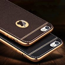 7 Plus Luxury Litchi Grain Painting Soft TPU Back Cover Case For iPhone 7 5 5s SE 6 6s Plus Phone Bag Fundas Coque New Arrive
