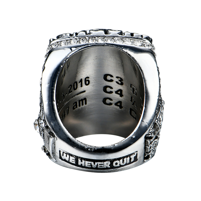 Chicago Cubs Bryant/Rizzo/Zonbrist  Baseball MLB Solid Championship Unisex Rings