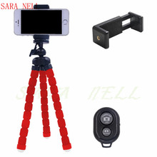 цена SARA NELL Mini Tripod For Phone Desktop Stand Gorillapod Smartphone Sponge Tripod For iPhone Tripod For Phone Mini Camera Tripod онлайн в 2017 году